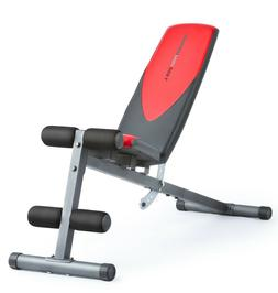 Weider Pro 225 L Bench with Exercise Chart  adjustable