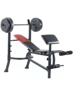 Weider Pro 265 Standard Bench, Bar, and WeightSet