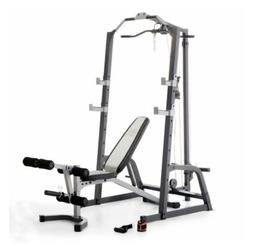 Marcy Pro Power Cage System &Utility Bench Squat Leg Extensi