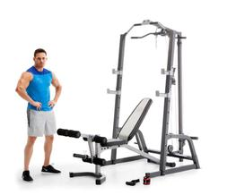 Marcy Pro Power Cage System & Utility Bench Squat rack + 300