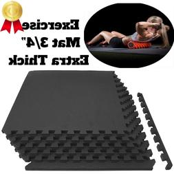 Protective Floor Tiles Thick Puzzle Exercise Mat Workout Flo