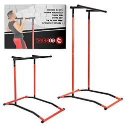GoBeast Power Tower Pull up Bar Dip Stand Portable Pull up S