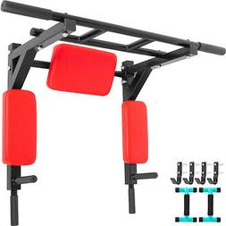 Pull Up Bar Wall Mounted Multi-Grip Chin Up Bar Exercise Equ