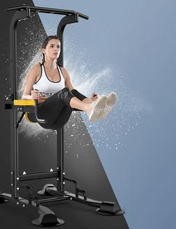 Pull Up Dip Station For Home Gym Fitness Exercise Power Towe