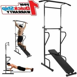 Pull Up Dip Station Home Gym Bar Power Tower Multi Function