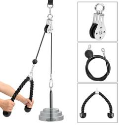 Pulley Cable Triceps Workout Home Gym DIY Arm Training Exerc