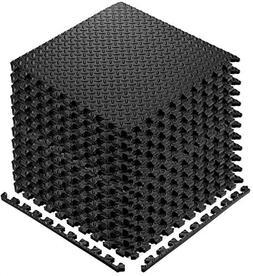 YOGU Puzzle Exercise Floor Mat EVA Interlocking Foam Tiles