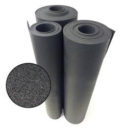 "Rubber-Cal Recycled Rubber Flooring - 3/8"" inch Thick Black"