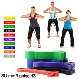 Resistance Bands Loop Crossfit Yoga Pull Up Exercise Fitness