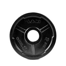 "CAP Barbell 2"" Rubber Coated Grip Plate, Black 10 lbs"