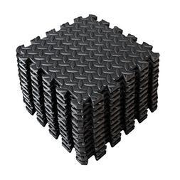 12 Piece Rubber Gym Floor Mat Foam Flooring Exercise Tiles W