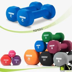 SET OF 2 NEOPRENE DUMBBELL Hand Weights Home Fitness Workout