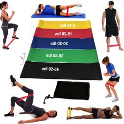 Set of 5 Resistance Loop Bands for Exercise Sports Fitness H