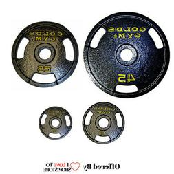 "Single Olympic Weight Plates 2"" Home Gym Fitness Exercise 3-"