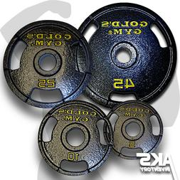"""Single Olympic Weight Plates 2"""" Home Gym Fitness Exercise 3-"""