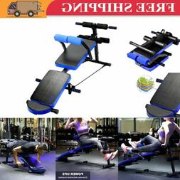Sit Up Bench Decline Abdominal Fitness Home Gym Exercise Wor