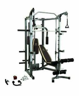 Marcy SM-4008 Smith Machine with Bench and Weight Bar