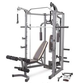 Marcy Smith Cage Machine with Workout Bench and Weight Bar H