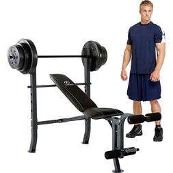 standard adjustable weight bench with 80 pound