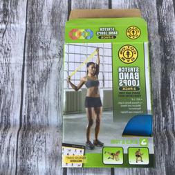 Golds Gym Stretch Bands NEW Pack 3 Levels Build & Tone Exerc
