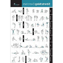 Stretching Exercise Poster Laminated - Shows How to Stretch