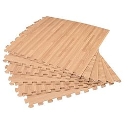 "Forest Floor 3/8"" Thick Printed Wood Grain Interlocking Foam"