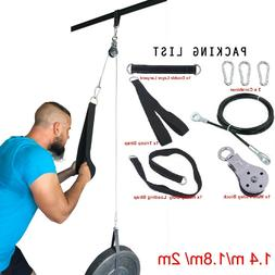 Tricep Extension Gym Training Home Fitness Pulley Cable Syst