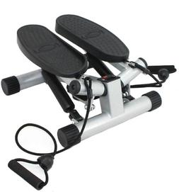 Sunny Health & Fitness Twisting Stair Stepper with Band, Sil
