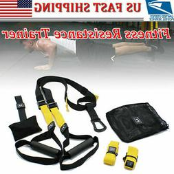 UPGRADED Home Gym Suspension Resistance Strength Training St