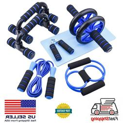 US Ab Roller Wheel Workout Equipment Set For Abdominal Exerc