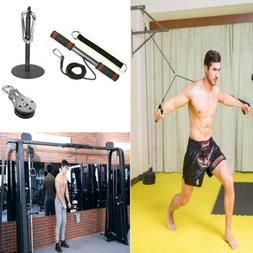 US Fitness Pulley Cable Gym Workout Equipment Machine Attach