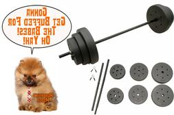 Gold's Gym 100 lbs Vinyl Weight Set Barbell Gym Equipment Wo