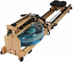 Water Rowing Machine Wooden Rower with Water Adjustable Resi