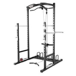 Marcy Weight Bench Cage Home Gym, Black