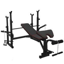 Weight Bench Press Squat Rack Barbell with Leg Developer Exe