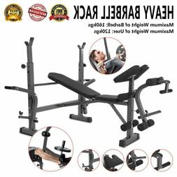 Weight Bench Set Home Gym Deluxe With 660Lbs Weights Lifting