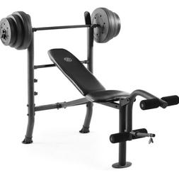 Weight Bench with 100lb Weight Set - Weider - CAP - GOLDS GY