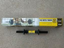Golds Gym Weight Lifting Bar 5' & Dumbbell Handle  Set Lock