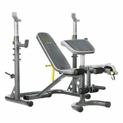 Weight Lifting Bench with Squat Rack Olympic Workout Adjusta