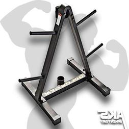 Weight Plate Holder Storage Rack Home Gym Tree Stand Barbell