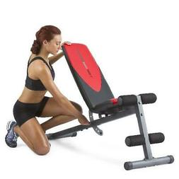 Workout Bench Press Adjustable Flat Incline Weight Exercise