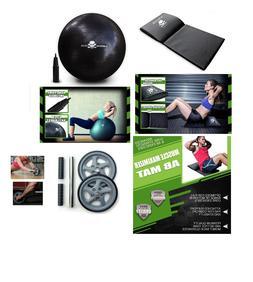 Workout Bundle Exercise Accessories Set 1 Ball 1 Mat & 1 Ab