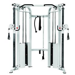 XMark XM-7626-WHITE Functional Trainer Cable Machine with Du