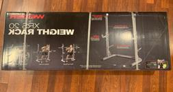 Weider XRS 20 Olympic Squat Rack w/ Adjustable Spotters & Pl