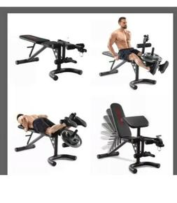 Weider XRS 20 Olympic Workout Bench Independent Squat Rack P