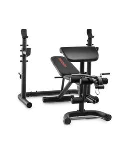Weider XRS 20 Olympic Workout Bench w/ Independent Squat Rac