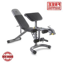Golds Gym XRS 20 Olympic Workout Incline Decline Bench Arm C