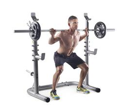 Weider XRS 20 Olympic Workout Squat Rack Spotter Bar Holds H