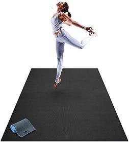 Premium Large Yoga Mat - 6' x 4' x 8mm Extra Thick & Comfort