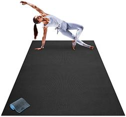 Premium Large Yoga Mat - 7' x 5' x 8mm Extra Thick, Ultra Co